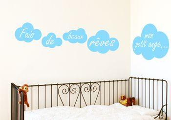 Stickers nuages pour chambre d'enfant - Stickers muraux Decorecebo