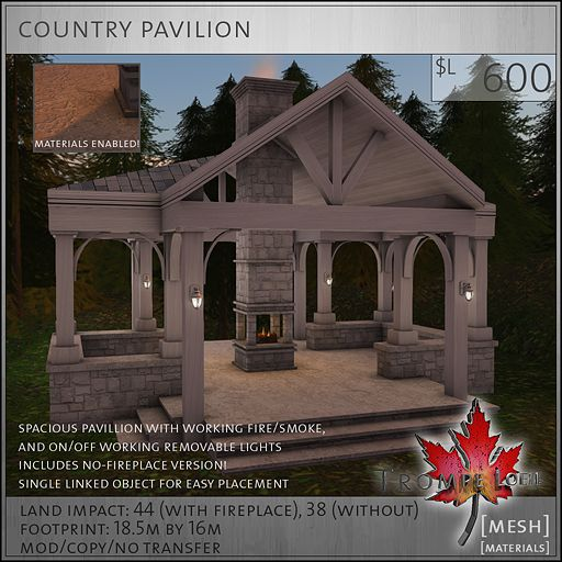country pavilion L600 #SecondLife