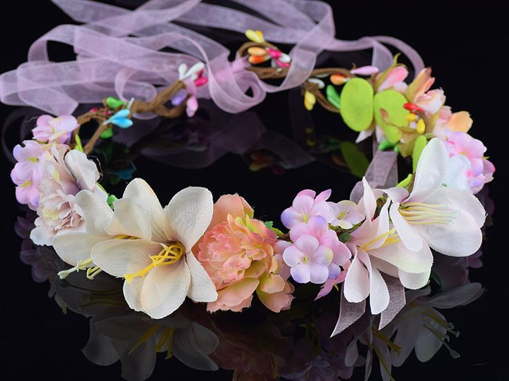 CXADDITIONS Chrysanthemum Carnations Lily Babysbreath Flower Bridal Floral Crown Hair Band Wreath Head Wreath Wedding Bridesmaid