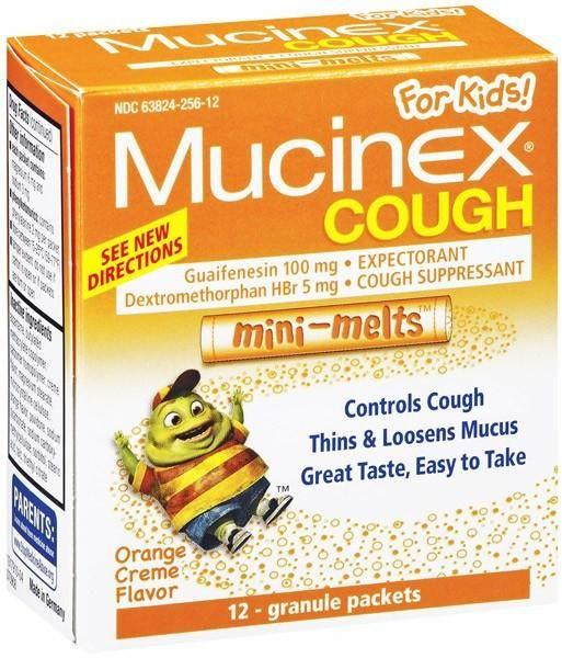 Mucinex for Kids Cough Medicine Mini Melts Orange Creme