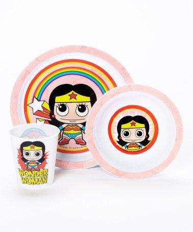 Wonder Woman Dining Set #zulilyfinds $10 http://www.zulily.com/invite/syen080