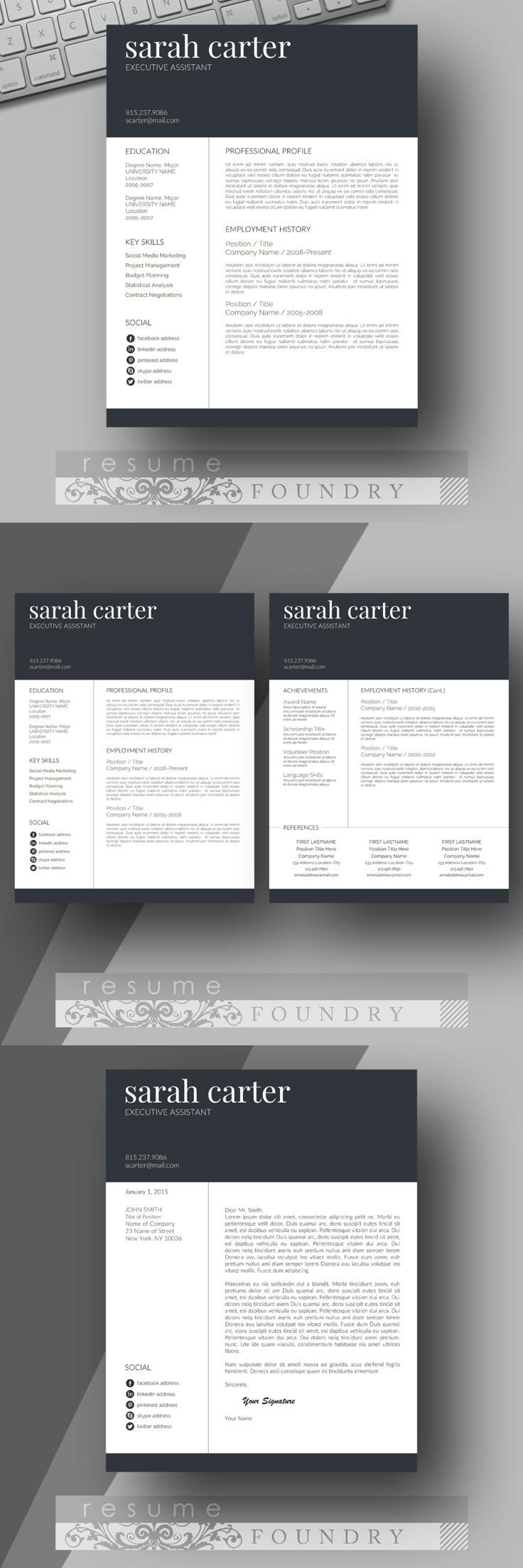 Clean Resume Download%0A Look professional with an easy to use resume template u