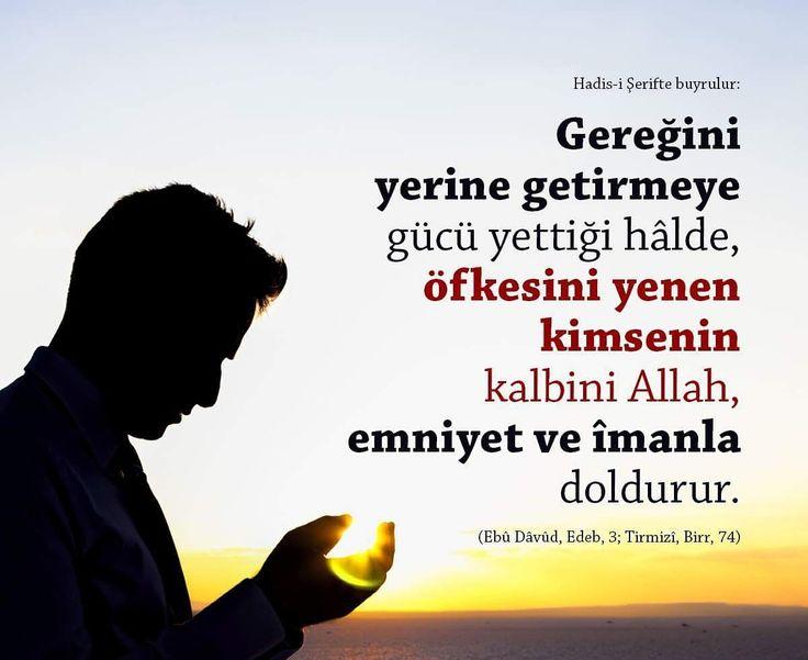 Öfkeni yen!   #öfke #kontrol #iman #güç #kalp #Allah #hadisler #emniyet #islam #hayırlıcumalar #ilmisuffa