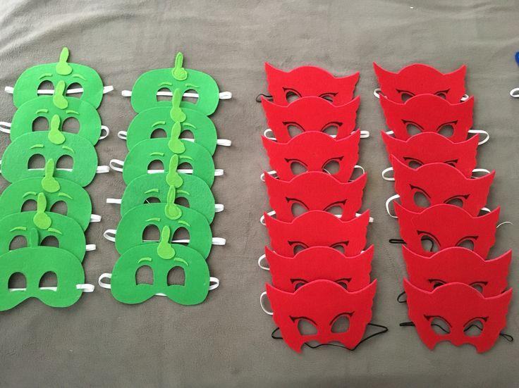 DIY PJ mask party favors