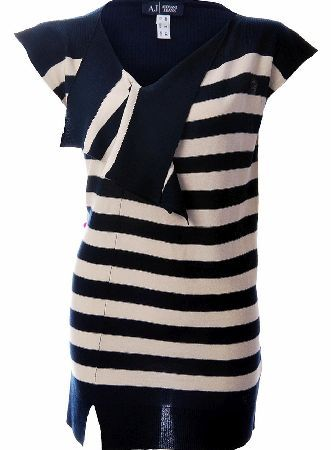 Armani Jeans Womens Stripped Dress Armani Jeans Womens Stripped Dress a light knitwear dress with white and navy stripes. The V neckline has panels that drape down. There is the Armani Jeans logo emblem attached at the bottom of the dr http://www.comparestoreprices.co.uk/designer-dresses/armani-jeans-womens-stripped-dress.asp