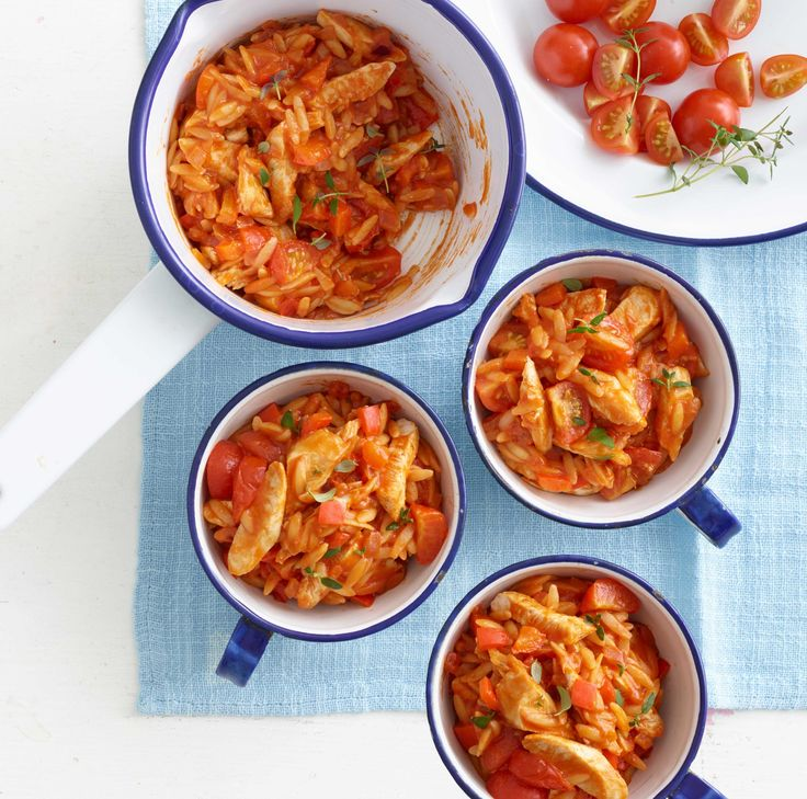 Chicken with Tomatoes and Orzo, an exclusive recipe from Annabel Karmel's Baby-Led Weaning Recipe Book