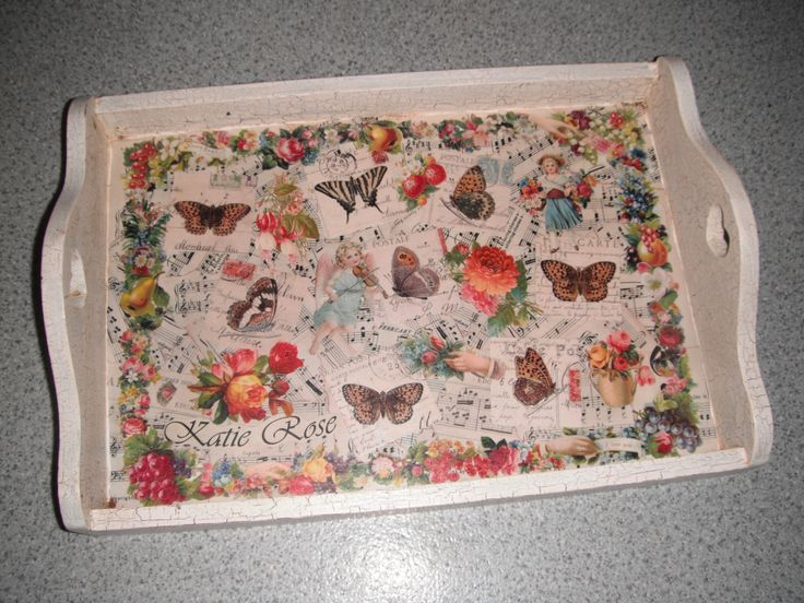 Decoupage Tea tray