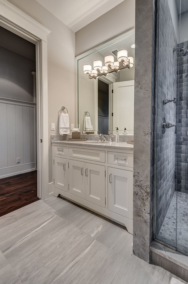 Image result for sherwin williams grayish in bathroom photos  Master Bath  Agreeable gray