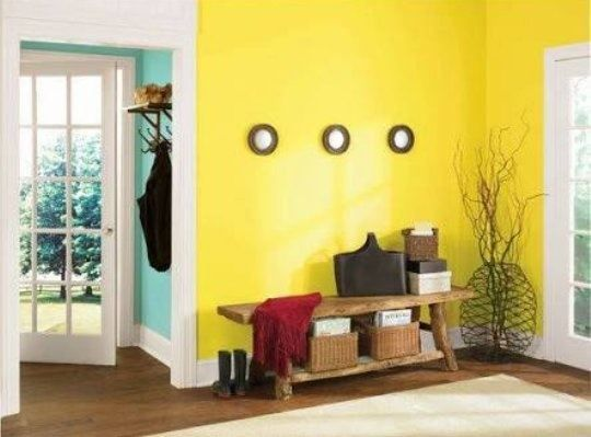 What Is A Matching Wall Colour For Lemon Yellow Quora Yellow Accent Walls Accent Walls In Living Room Asian Paints Colours