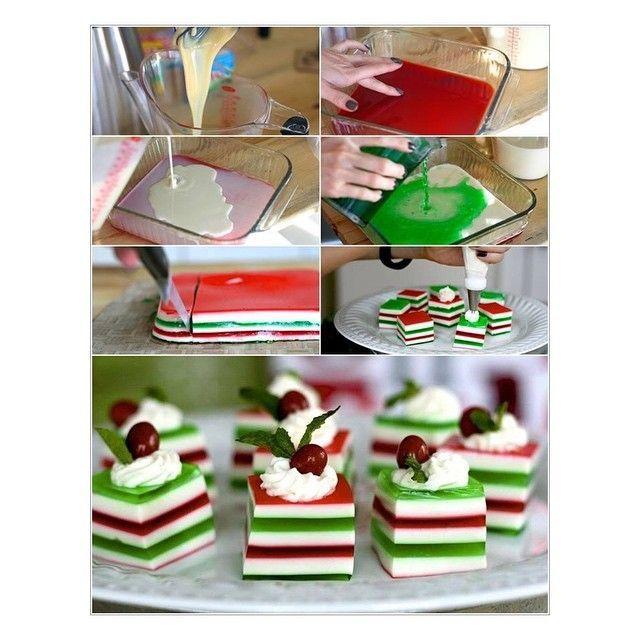 """Share the post """"Gelatina com tema natalino"""" FacebookTwitterGoogle+Pinterest Aprenda a fazer essa deliciosa gelatina com tema natalino! Simples, fácil de ser feita e super saborosa. Faça para dar um charme a mais na sua festa de natal. camada de gelatina vermelha feita com 50ml a menos de água do que o que manda na receita …"""