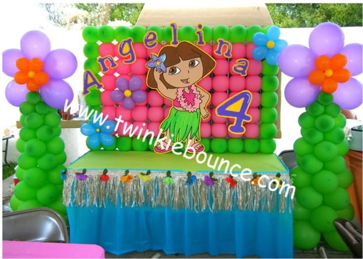 Dora Birthday Table Dora Birthday Party Balloon