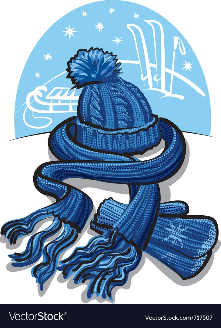 Winter Clothing Wool Scarf Mittens And Hat Download A Free Preview Or High Quality Adobe Illustrator Ai Eps Pdf Hat Vector Winter Outfits Cocktails Vector