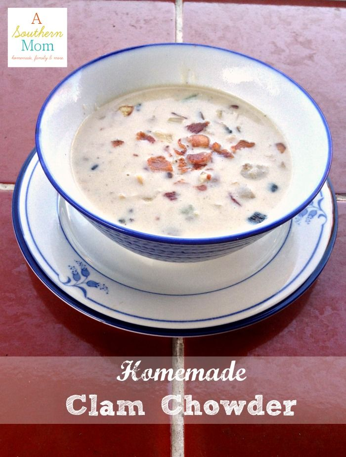 It's getting chilly, it's time to pull out the soup recipes! Here's an easy and comforting recipe for Clam Chowder. You have to look at how simple this recipe is!
