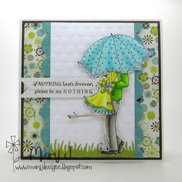 Kissing in the rain by maryj68 - Cards and Paper Crafts at Splitcoaststampers