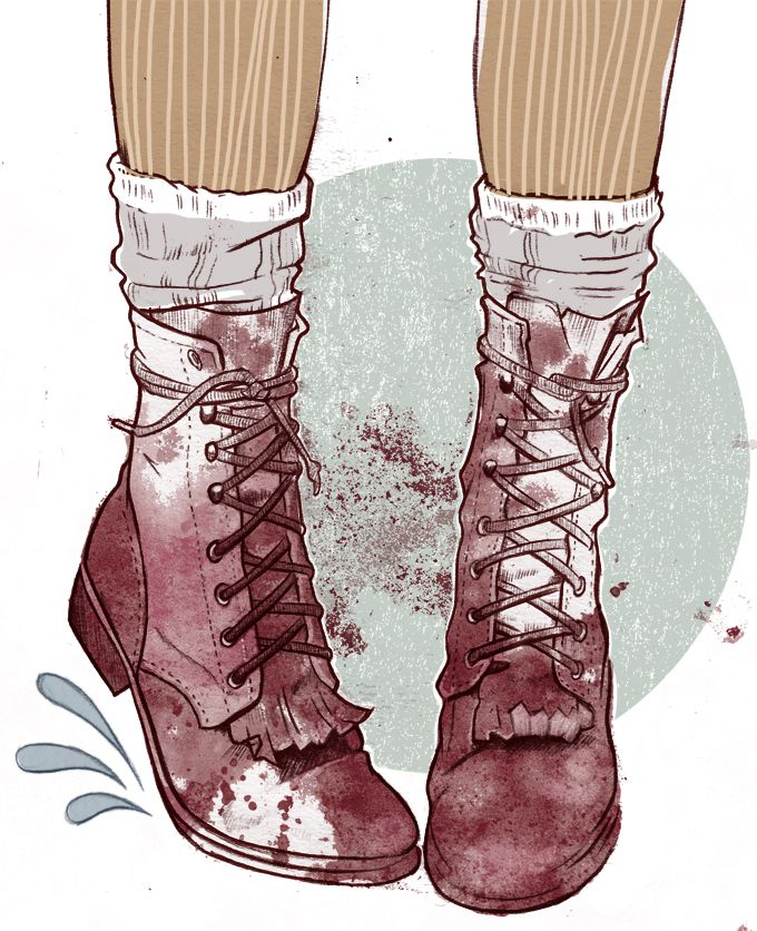 Miss Led shoe illustration