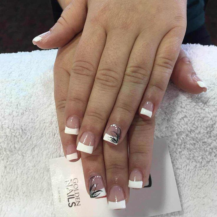 135 best French Nail Art Designs images on Pinterest   French nails ...