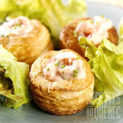 Vol-au-vents aux fruits de mer #recettesduqc #souper