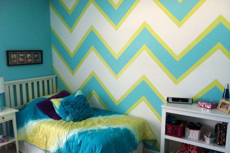 Chevron Wall Teen Girl 39 S Room Created By Lori Wilkes Of If Walls Could Talk Sandusky Ohio