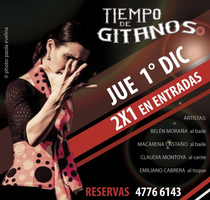 Noche de JUEVES 2X1 A FURO FLAMENCO!!! Te esperamos en El Salvador 5575 - Palermo!!! Reservas: 4776-6143