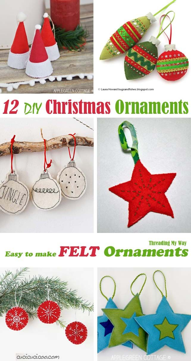 How To Make Felt Christmas Ornaments From Felt Quick And Easy Diy