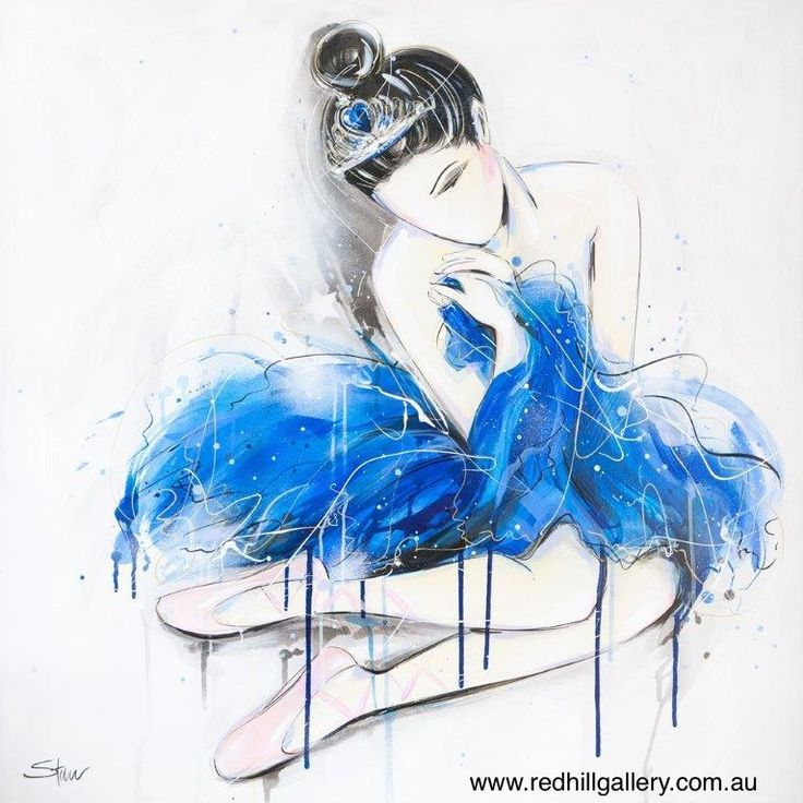 Starr 'London Blue Tutu' 100x100cm. 61 Musgrave Road, Red Hill Brisbane, QLD, Australia. art@redhillgallery.com.au
