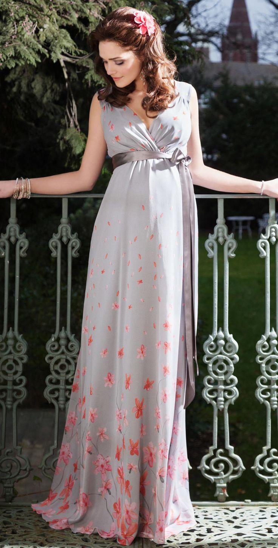 Jasmine Maternity Gown Long (Peach Blossom)