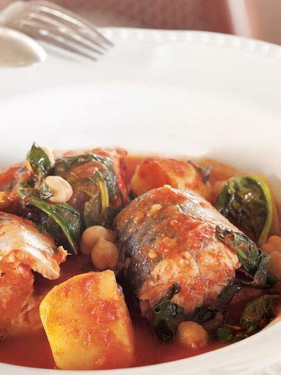 Domates soslu ve sebzeli palamut Tarifi - Türk Mutfağı Yemekleri - Yemek Tarifleri