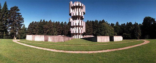 Kozara  Memorijalni Kompleks Mrakovica by Dusan Dzamonja, opened 10. september 1972 by Tito