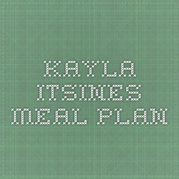 Kayla Itsines Meal Plan