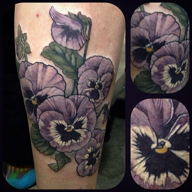 Pansy Botanical Illustration Wonderland Tattoos