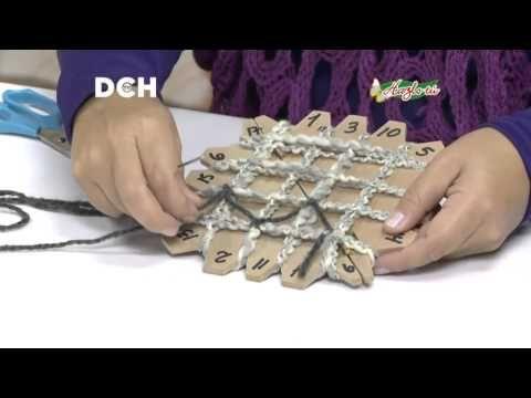 Tapado en telar Mariposa. - YouTube