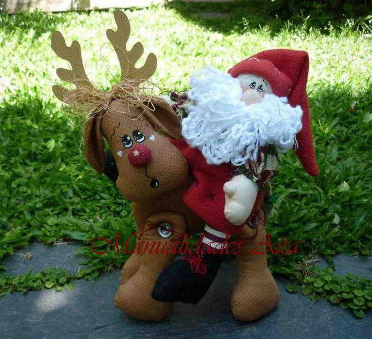 Papa Noel en reno navideño                                                                                                                                                      Más