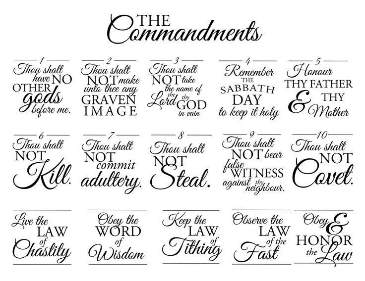 Best 25+ The Commandments Ideas On Pinterest | Resume Fonts, 10