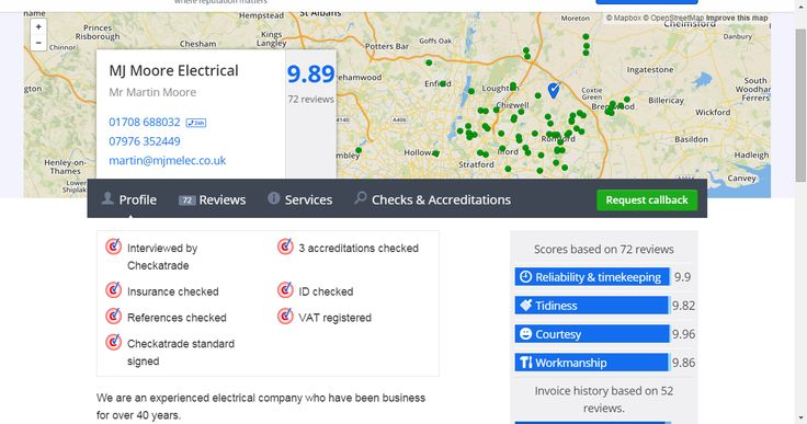 MJ Moore Electrical - Electrician based in Stapleford Abbotts, Greater London.