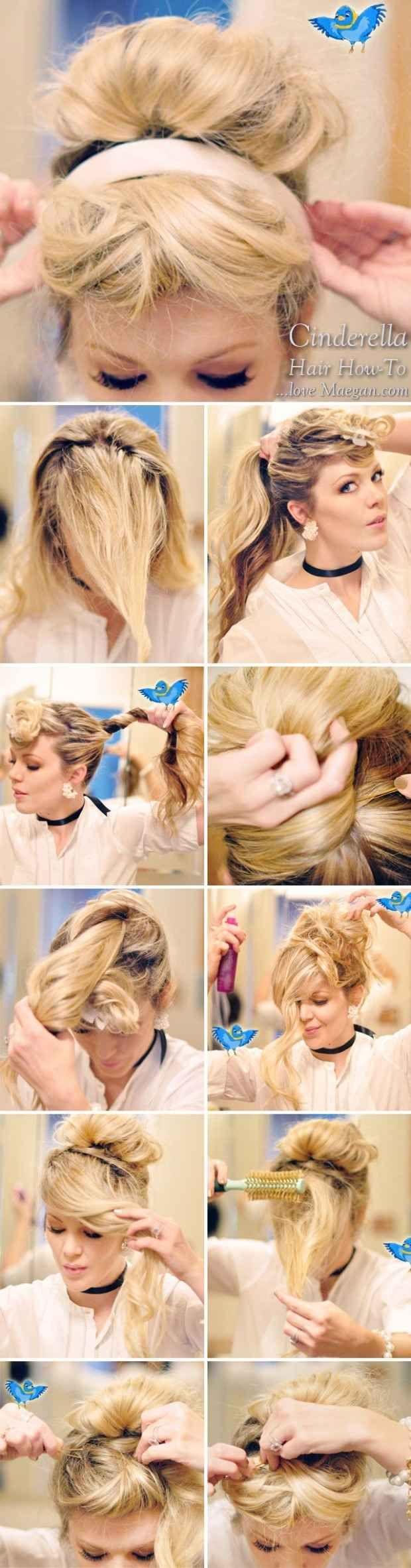 Cinderella's chic updo | 7 Easy Hair Tutorials Even Disney Princesses Would Envy