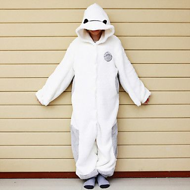 Big Hero 6 Baymax Fleece Cosplay Kigurumi Pajamas - USD $ 29.99