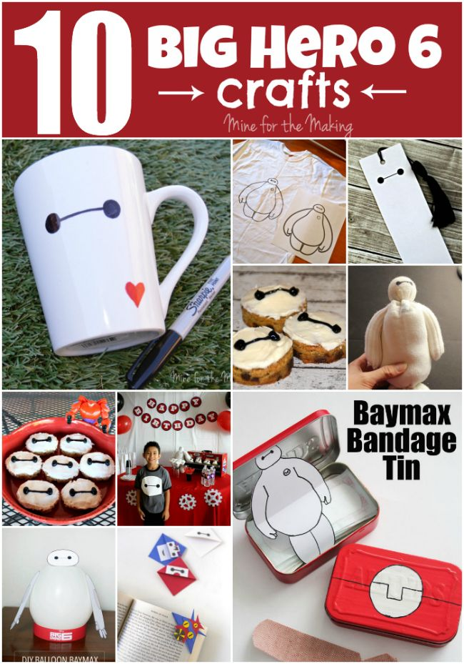 Check out these 10 Big Hero 6 Crafts that your kids will love!