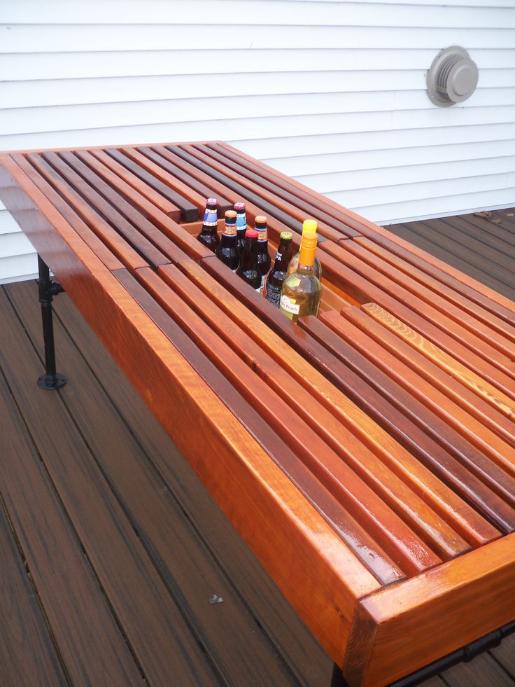 15 Best Images About Diy Cedar Outdoor Table With Built In