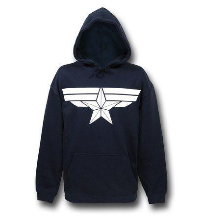 #CaptainAmerica Winter Soldier sweatshirt on sale for back to school http://www.superherostuff.com/captain-america/sweatshirts-and-hoodies/captain-america-winter-soldier-pullover-hoodie.html?itemcd=hoodcapwsnavy