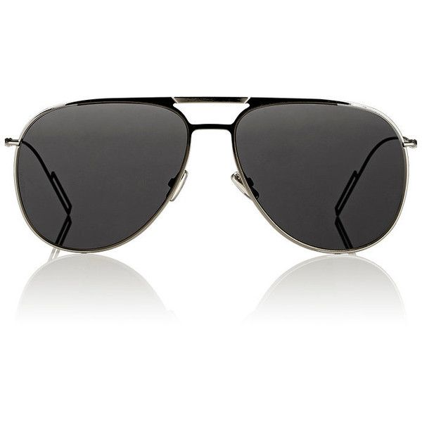 Dior Homme Aviator Sunglasses ($395) ❤ liked on Polyvore featuring men's fashion, men's accessories, men's eyewear, men's sunglasses, brown, mens brown sunglasses and mens aviator sunglasses