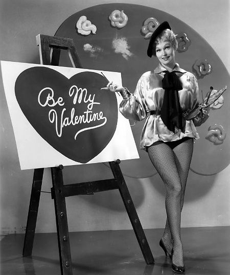 Vintage Valentine's Day Pin-Up - Karen Steele...