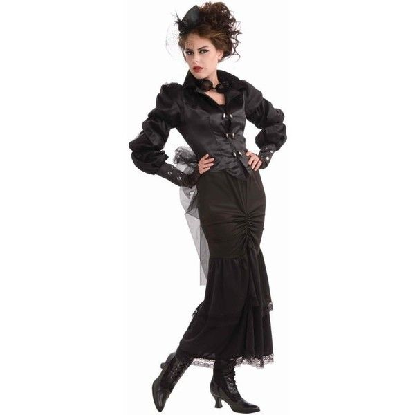 Steampunk Victorian Lady Adult Costume (52 NZD) ❤ liked on Polyvore featuring costumes, steampunk, victorian, halloween costumes, steam punk halloween costumes, retro halloween costumes, mod costume, role play costumes and adult victorian costume