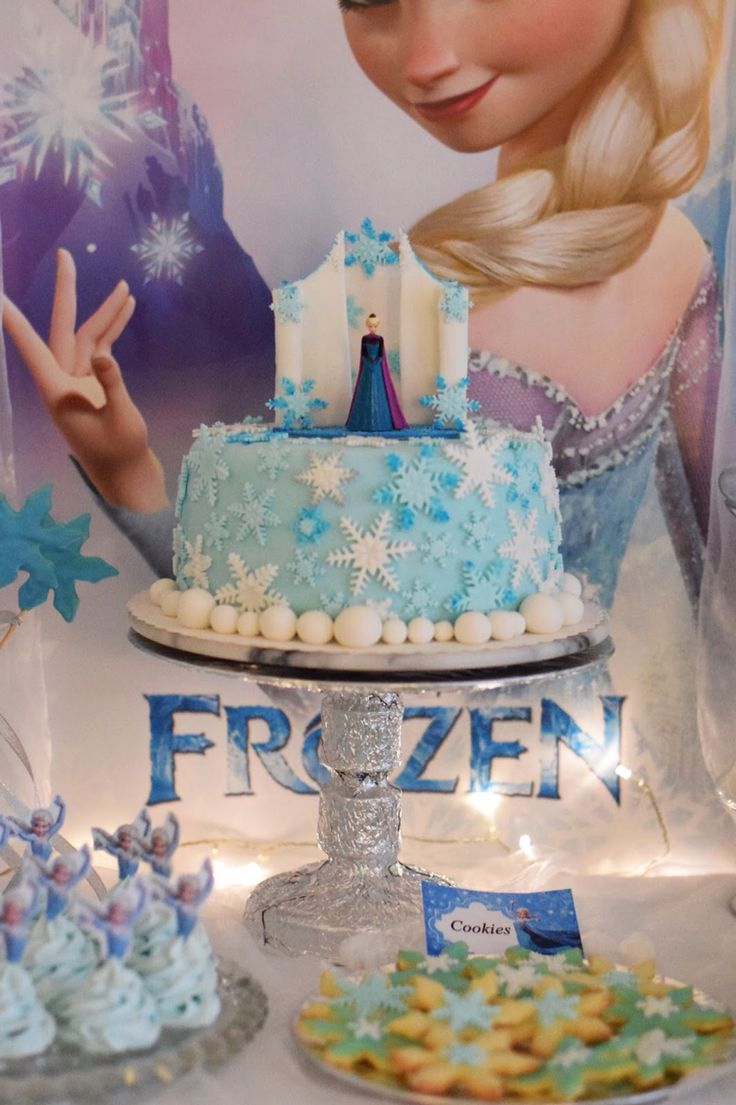 Frozen party frozen cake