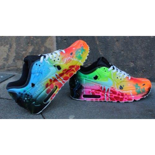 reputable site 5b158 03497 ... Cheap Nike Air Max 90 Custom Candy Drip Blue Galaxy WomensMens Shoes  Trainers ...