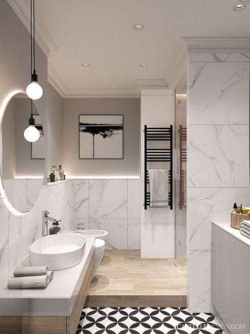 Marmor im Bad? Ja, dieses Naturmaterial lässt das Badezimmer edel und zeitlos wirken