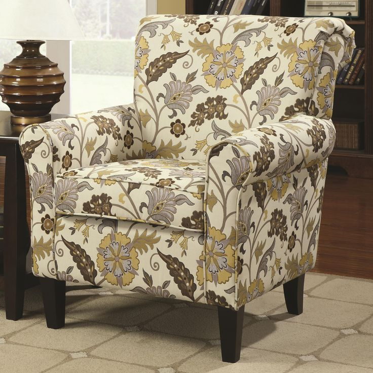 Coaster Accent Seating Smooth And Simple Retro Styled Accent Chair With  Decorative Rolled Arms   Coaster Fine Furniture
