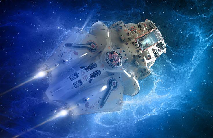 ArtStation - Fly in space, Oshanin Dmitriy
