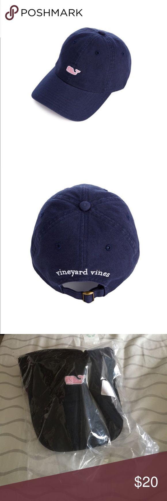 NWT Vineyard vines hat NWT Vineyard vines black hat with pink whale Vineyard Vines Accessories Hats