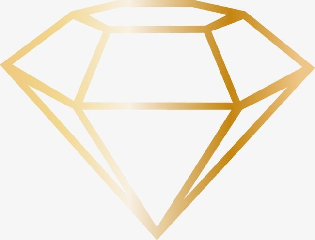 Cartoon Golden Diamond Frame Golden Diamonds Diamond Vector Diamond Decorations