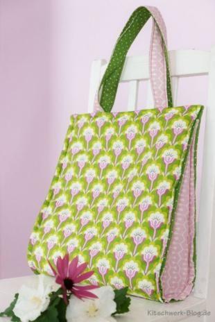 Tasche, Bag, Free Tutorial, Gratis Anleitung, kostenloses Schnittmuster, free pattern, Freebook, nähen, sewing